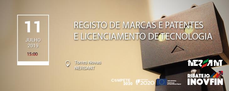 Registo de Marcas e Patentes e Licenciamento de Tecnologias